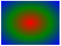 径向渐变 - 颜色结点均匀分布