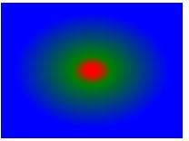 径向渐变 - 颜色结点不均匀分布
