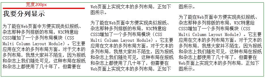 CSS3 多列布局 -- column-width