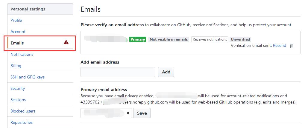 添加邮件地址