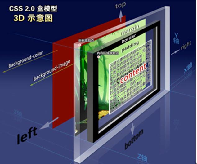 盒模型的3D展示图