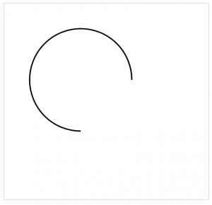 arc逆时针绘制0.5PI