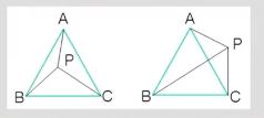 如何用叉乘判断点在三角形内呢