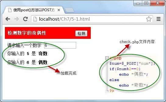 使用post()方法以POST方式从服务器发送数据