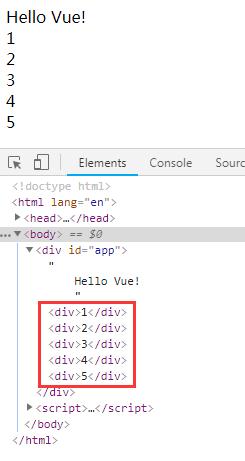 v-for循环床架5个人div块级元素