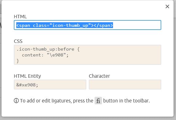 生成图标字体按钮的代码