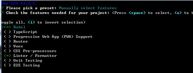 cli手动选择配置项目录