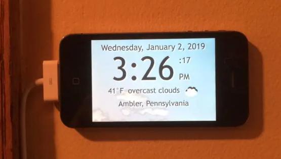 我如何使用我的旧iPhone 4制作GPS供电的天气时钟