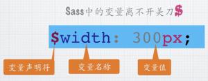 [Sass]声明变量