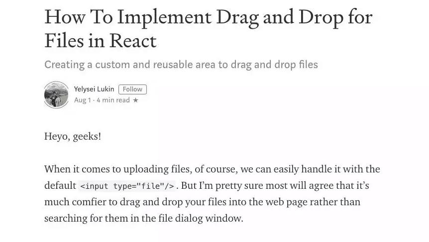 React 实现一个交互完整的拖拽上传组件 仅需120行代码